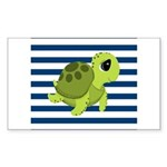 Sea Turtle Navy Stripes Sticker