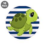 Sea Turtle Navy Stripes 3.5