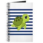 Sea Turtle Navy Stripes Journal