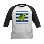 Sea Turtle Navy Stripes Baseball Jersey