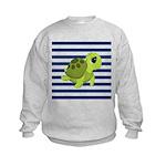 Sea Turtle Navy Stripes Sweatshirt