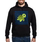 Sea Turtle Navy Stripes Hoodie