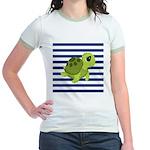Sea Turtle Navy Stripes T-Shirt