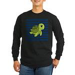 Sea Turtle Navy Stripes Long Sleeve T-Shirt