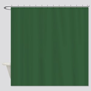 Solid Hunter Green Shower Curtain