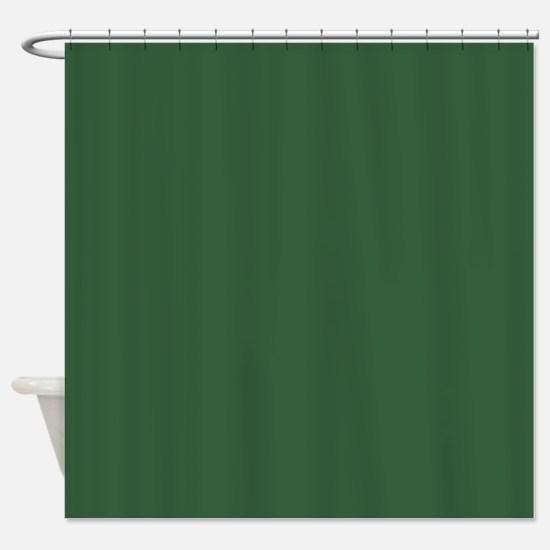 Solid Hunter Green Shower Curtain Dark Curtains  CafePress
