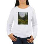 Mountain forest lake Long Sleeve T-Shirt