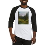 Mountain forest lake Baseball Jersey