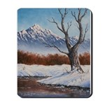 Winter scene Mousepad