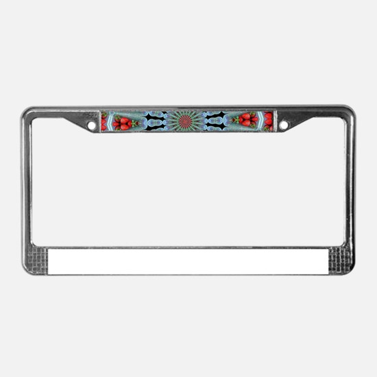 Strawberry Delight License Plate Frame
