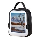 Winter scene Neoprene Lunch Bag