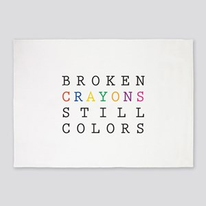 Broken Crayon still colors 5'x7'Area Rug