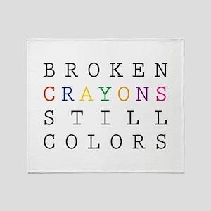 Broken Crayon still colors Throw Blanket