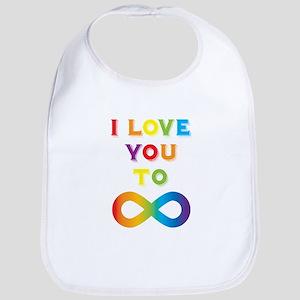 I Love You To Infinity Rainbow Bib