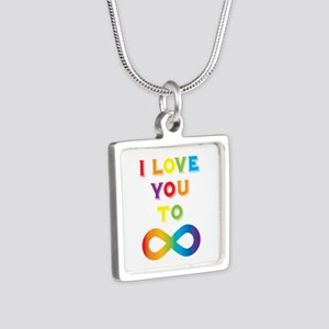 I Love You To Infinity Rai Silver Square Necklace