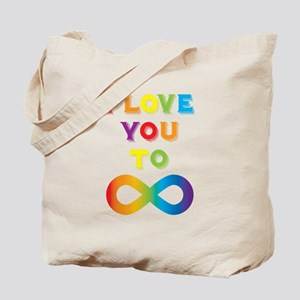 I Love You To Infinity Rainbow Tote Bag