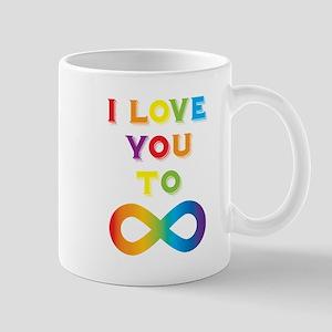 I Love You To Infinity Rainbow Mug
