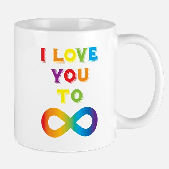 I Love You To Infinity Rainbow Mug