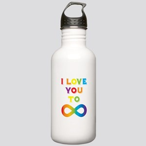 I Love You To Infinity Stainless Water Bottle 1.0L
