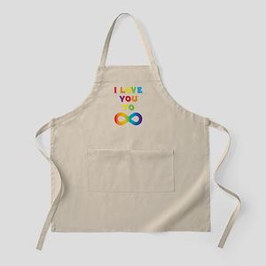 I Love You To Infinity Rainbow Apron