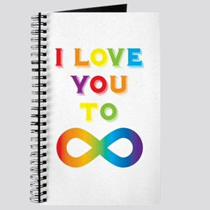 I Love You To Infinity Rainbow Journal