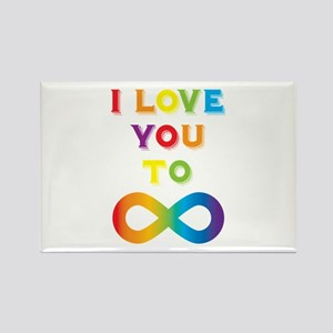 I Love You To Infinity Rainbow Rectangle Magnet