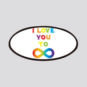 I Love You To Infinity Rainbow Patch