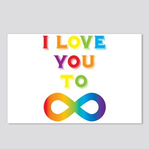 I Love You To Infinity Ra Postcards (Package of 8)