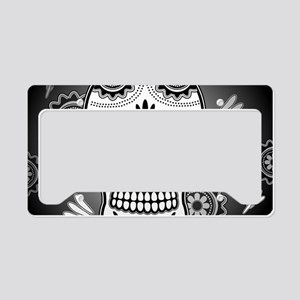 Funny sugar skull License Plate Holder