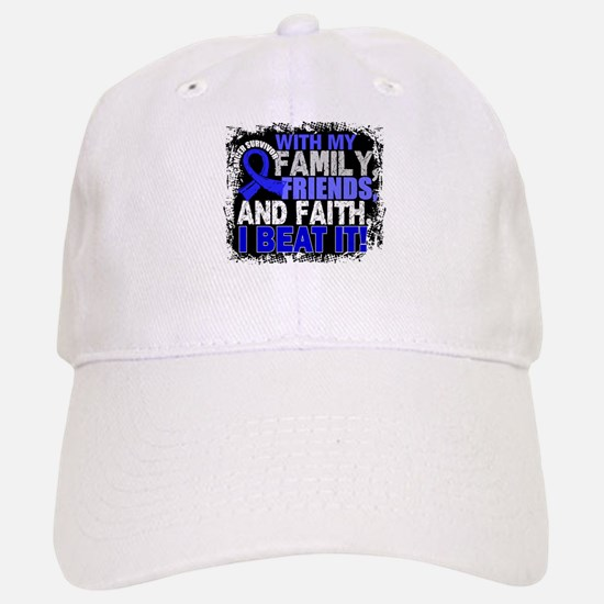 Anal Cancer Survivor FamilyFriendsFaith Baseball Baseball Cap