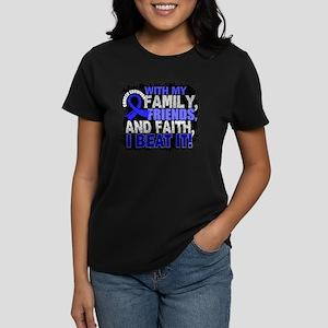 Colon Cancer Survivor FamilyF Women's Dark T-Shirt