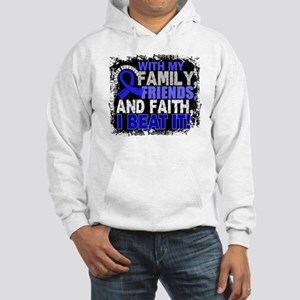 Colon Cancer Survivor FamilyFrie Hooded Sweatshirt
