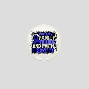 Colon Cancer Survivor FamilyFriendsFai Mini Button