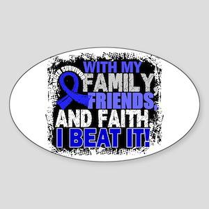Colon Cancer Survivor FamilyFriends Sticker (Oval)