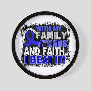Colon Cancer Survivor FamilyFriendsFait Wall Clock