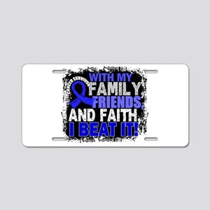 Colon Cancer Survivor Famil Aluminum License Plate