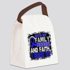 Colon Cancer Survivor FamilyFrien Canvas Lunch Bag