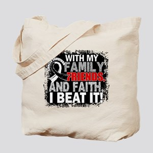 Carcinoid Cancer Survivor FamilyFriendsFa Tote Bag