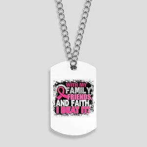 Breast Cancer Survivor FamilyFriendsFaith Dog Tags