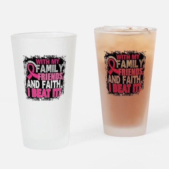 Breast Cancer Survivor FamilyFriend Drinking Glass
