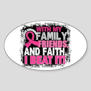 Breast Cancer Survivor FamilyFriend Sticker (Oval)