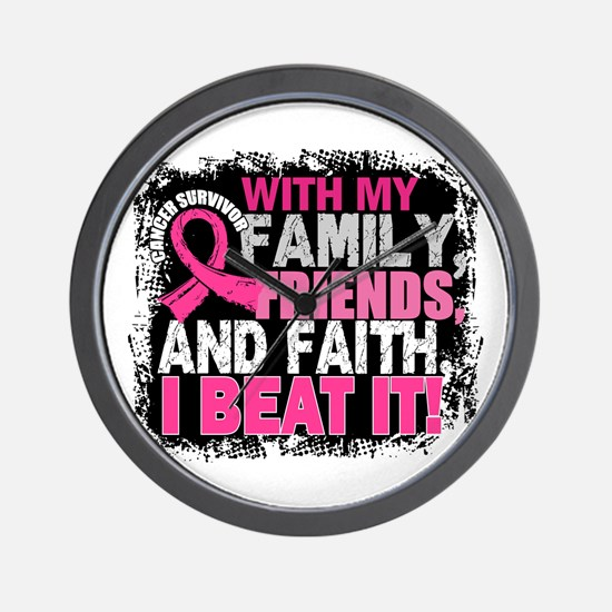 Breast Cancer Survivor FamilyFriendsFai Wall Clock