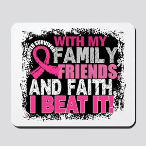 Breast Cancer Survivor FamilyFriendsFait Mousepad