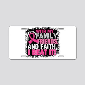 Breast Cancer Survivor Fami Aluminum License Plate