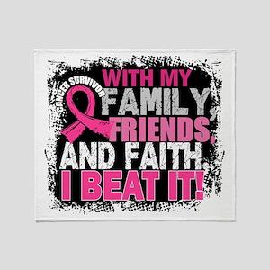 Breast Cancer Survivor FamilyFriends Throw Blanket