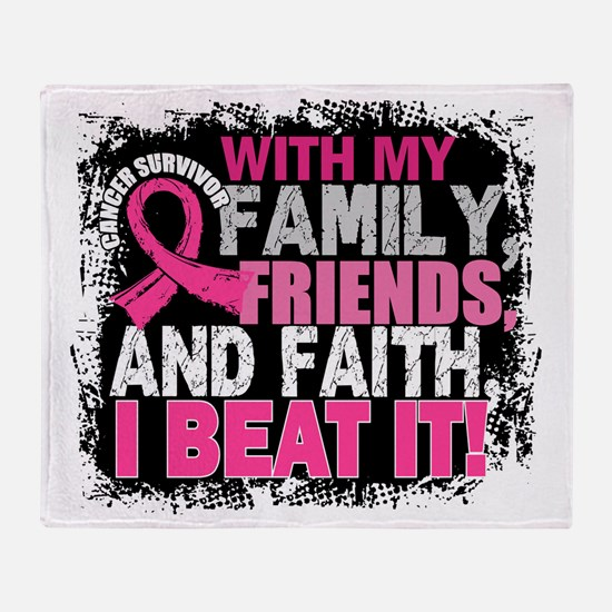 Breast Cancer Survivor FamilyFriends Throw Blanket