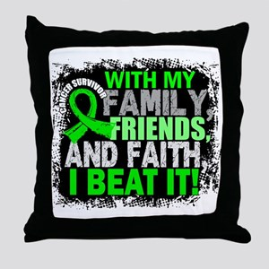 NH Lymphoma Survivor FamilyFriendsFai Throw Pillow