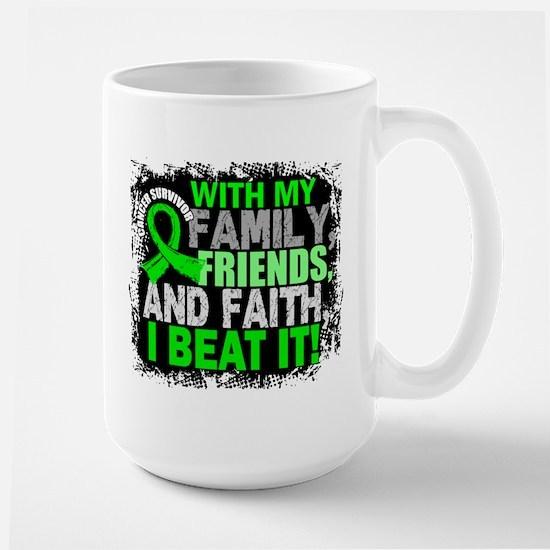 NH Lymphoma Survivor FamilyFriendsFaith Large Mug