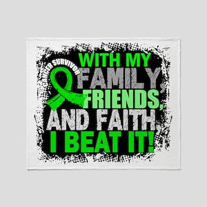 NH Lymphoma Survivor FamilyFriendsFa Throw Blanket