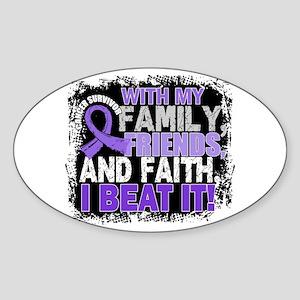 Hodgkin's Disease Survivor FamilyFr Sticker (Oval)